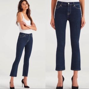 NWT 7 For All Mankind High Waisted Slim Kick Jeans